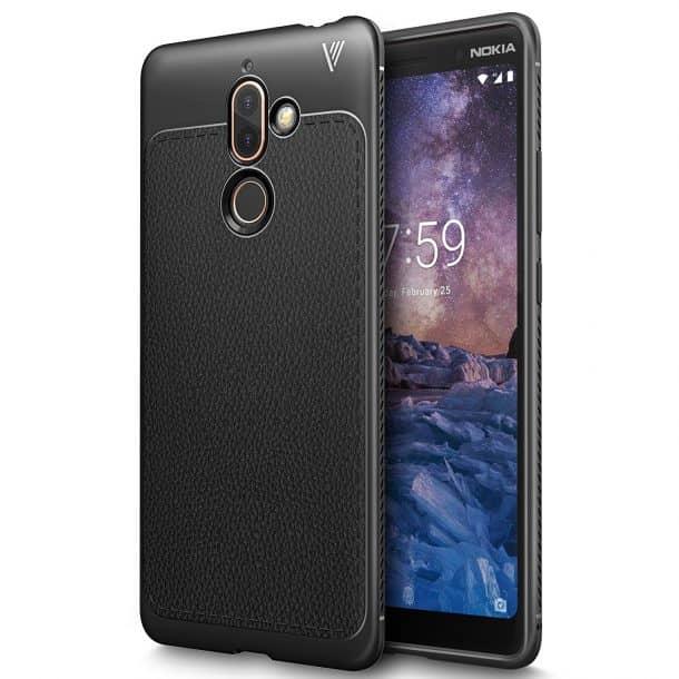 KuGi Premium Flexible Soft Anti Slip TPU Case for Nokia 7 Plus
