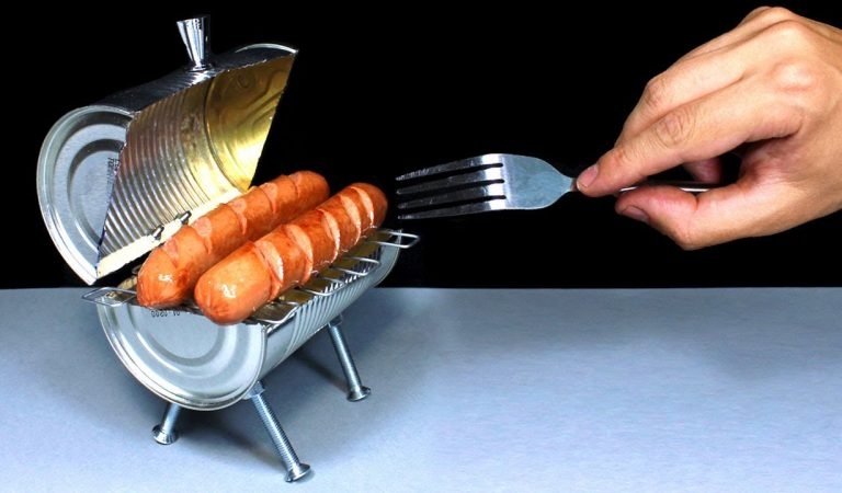 You Can Turn A Useless Tin Can Into A Cool Mini BBQ Grill