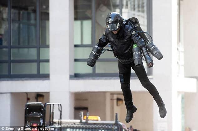 selfridge iron man flying suit