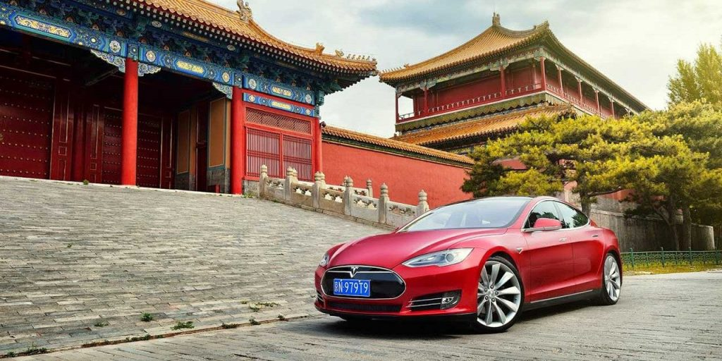 tesla factory in China