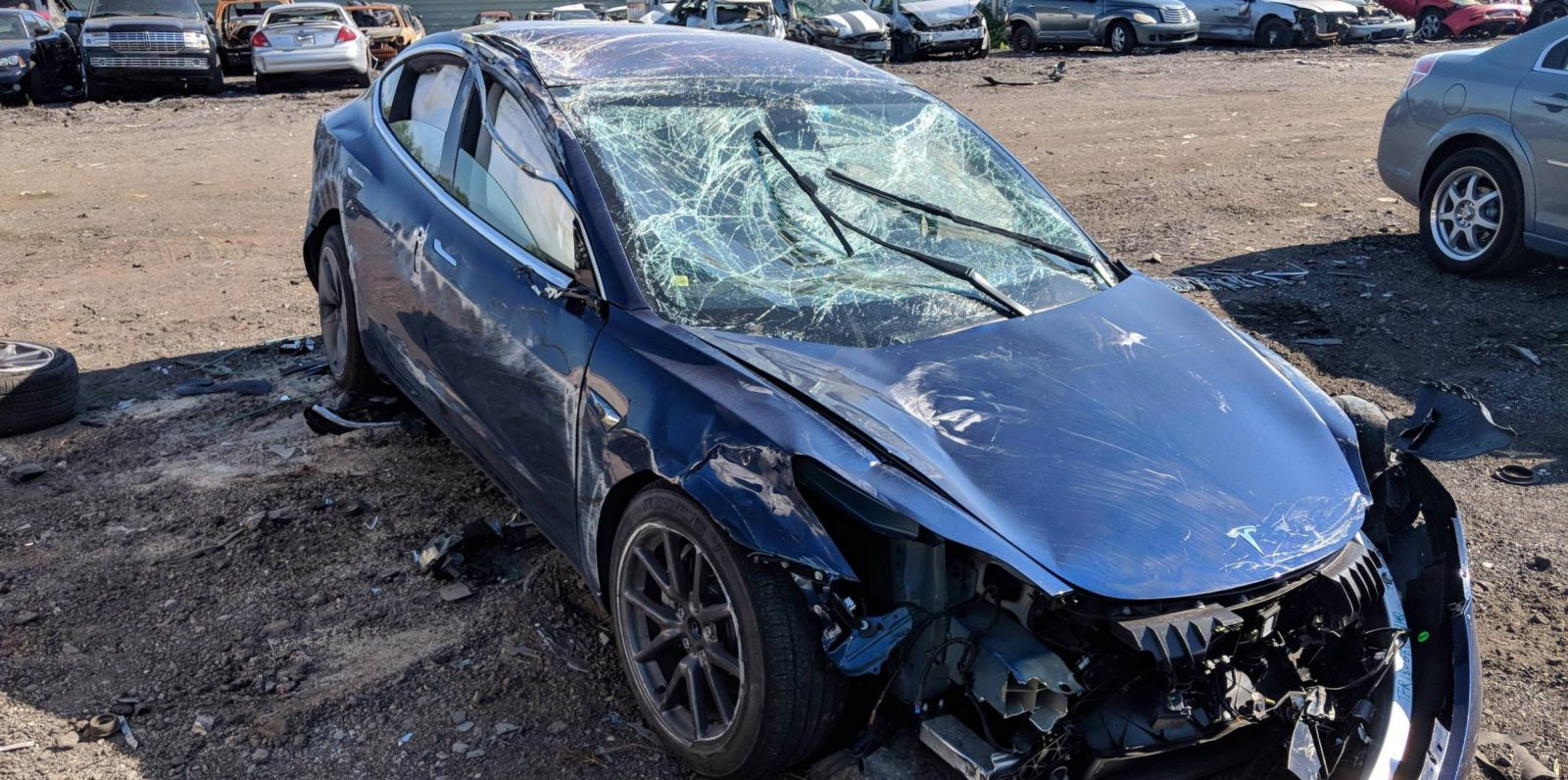 tesla model 3 accident