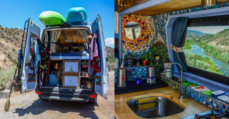 tiny house in a van