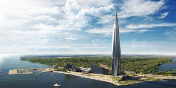 europe's tallest building Lakhta Center