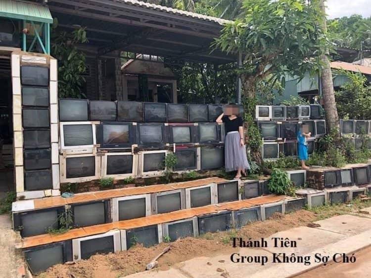 television fence in Vietnam