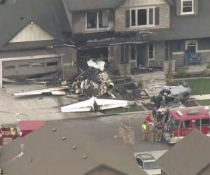 plane crash in house