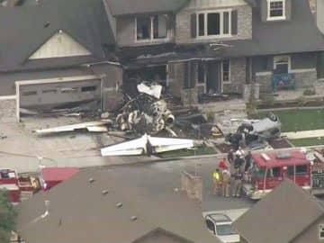 plane crash in house