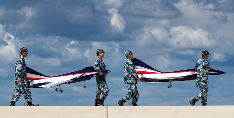 china airforce coping other airforce plane