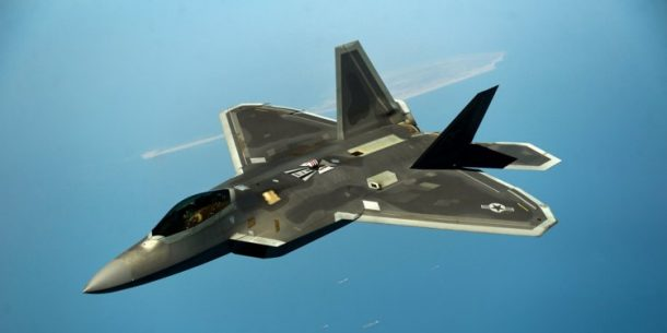 F-22 raptor aircraft