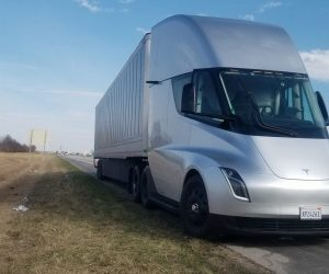 tesla semi truck sound