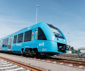 Coradia iLints trains in germany that runs on hydrogen fuel