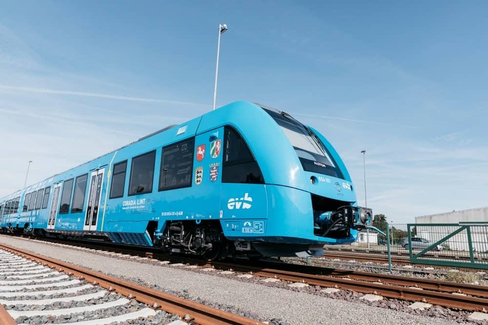 Coradia iLints trains in germany that runs on hydrogen fuel