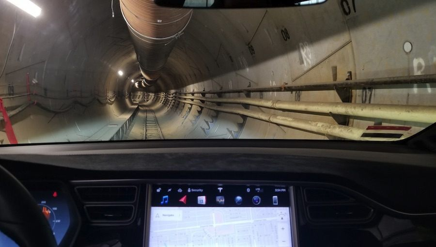 hyperloop tunnel by the boring company