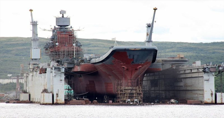 carrier in Russia damaged