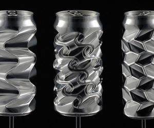 sculpture from aluminium cans