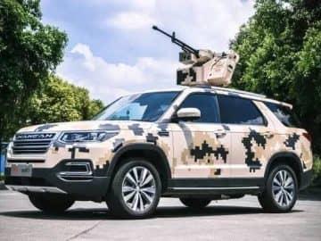 chinese SUV with machine gun