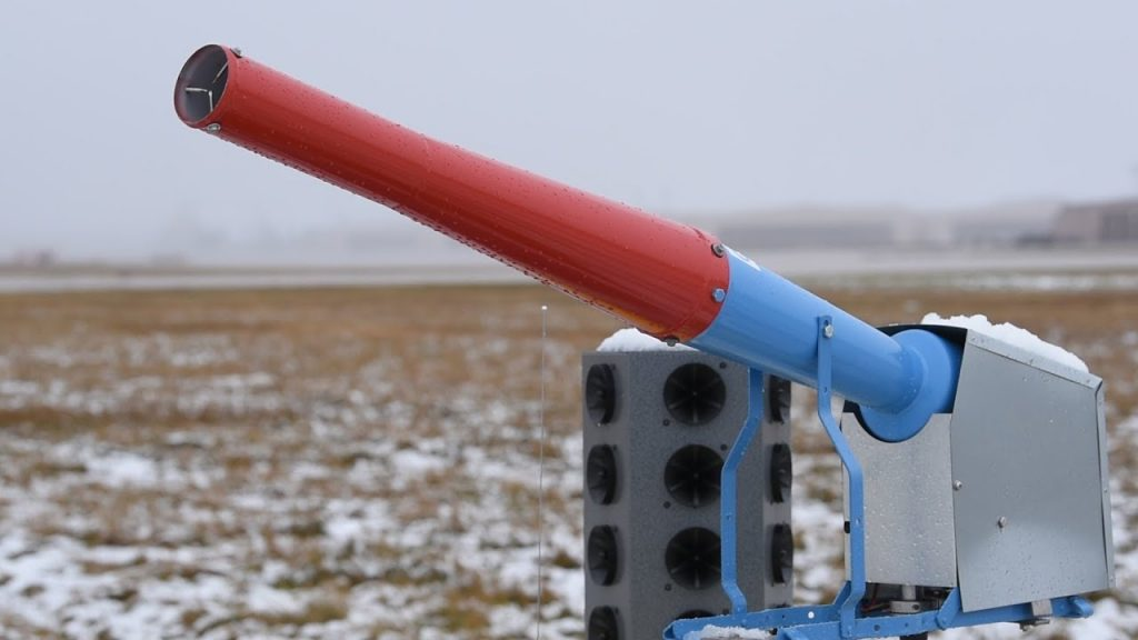 ellsworth air force base cannons to keep birds away