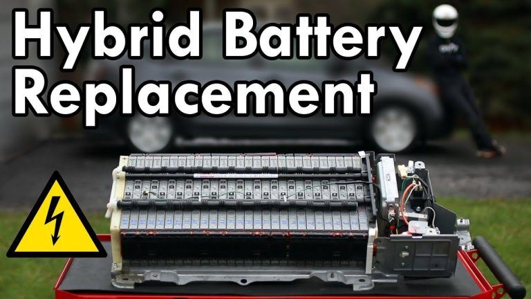 how to change car's hybrid battery