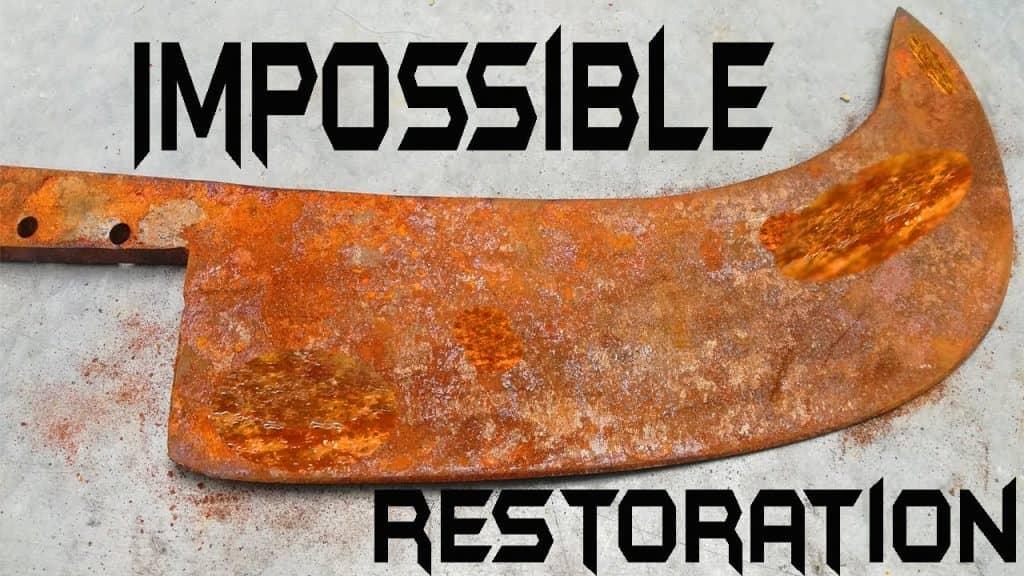 restoration of meat cleaver knife