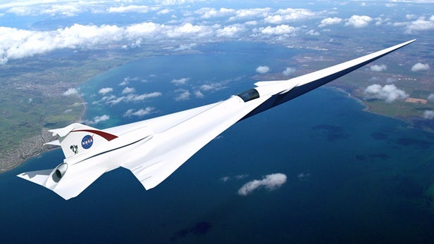 lockheed martin and NASA building X-59 supersonic jet