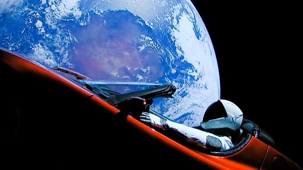 starman and roadster crossed mars