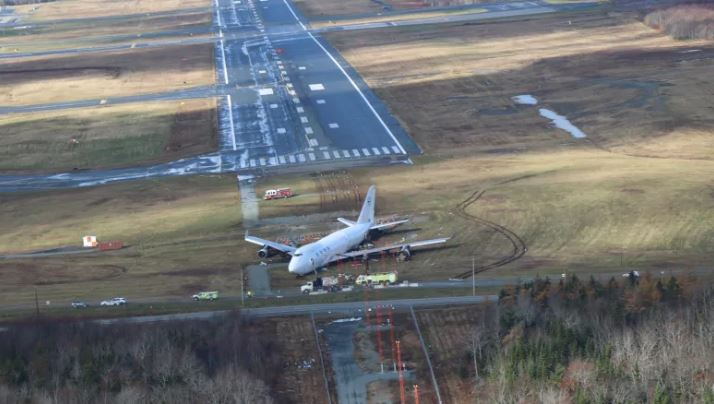 short runway with boeing 747