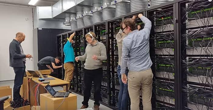 neuromorphic supercomputer powered on