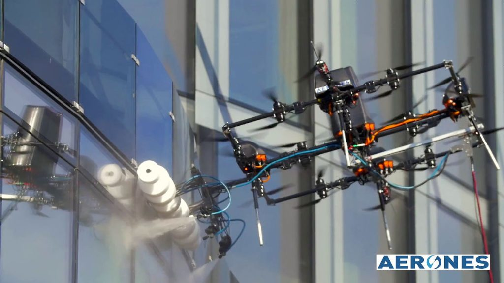 Aerones Introduces Drones That Can Wash Windows Or Put Out Fires!
