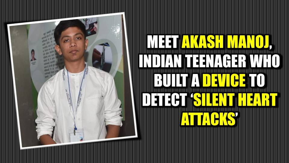 Akash Manoj Created A Device That Can Detect Silent Heart Attacks!