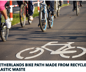 Check Out The Bike Path In The Netherlands - Made From Plastic