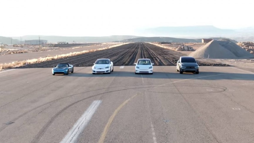 Four Tesla Models Having A Showdown!