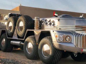 The Rainbow Sheikh Has Built Dhabiyan – World's Largest SUV!