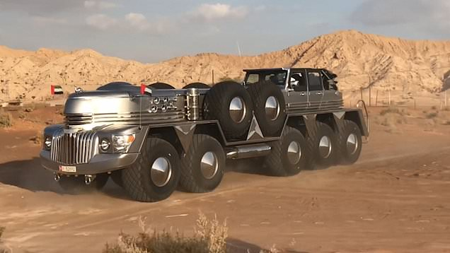 The Rainbow Sheikh Has Built Dhabiyan – World's Largest SUV!
