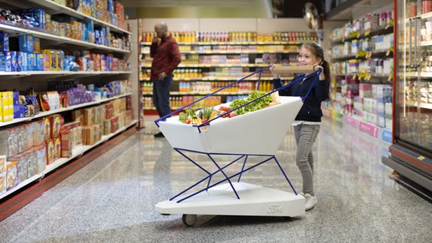 Ford Shows Off A Self-Braking Trolley As Part Of Its Interventions Series