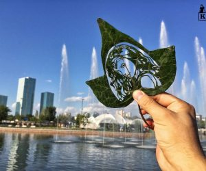 Kanat Nurtazin Uses The Art Of Leaf Cutting For Telling Stories!