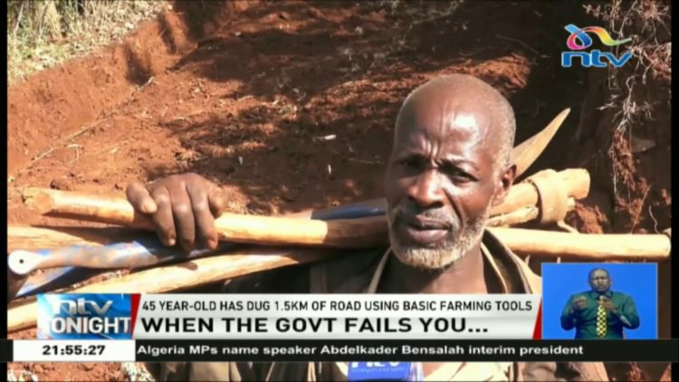 Nicholas Muchami Is A Local Hero In Kaganda After Digging A Road!