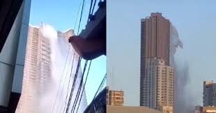 Earthquake Empties The Skyscraper's Rooftop Pool In Manila!