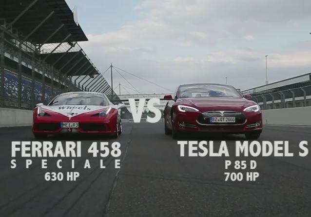 Tesla Model 3 Performance Wins Against Ferrari 458 In A Drag Race!