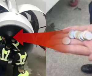 Throwing Metal Coins Into Engines Of Airplanes For Good Luck!