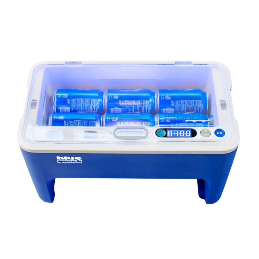 Blue Quench's Qooler Can Chill Your Drinks In Only A Minute!