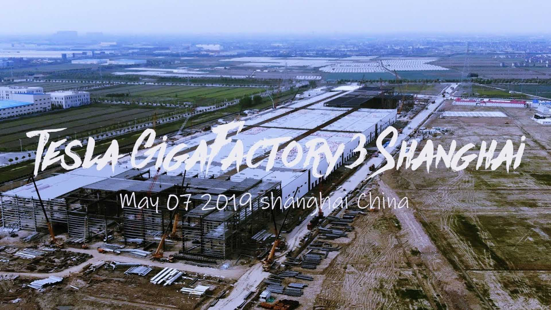 Check Out The Drone Footage Of Gigafactory 3 In China