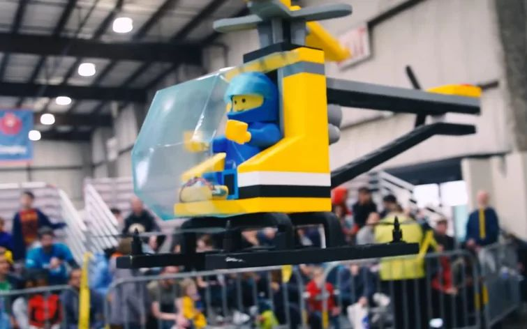 Check Out This Amazing DIY LEGO Helicopter That Actually Flies