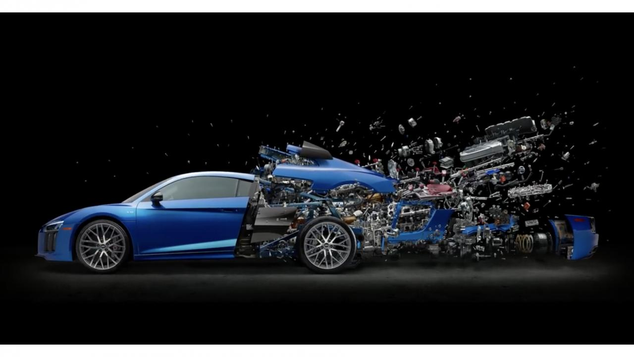 Fabian Oefner Disintegrating Series Featuring Audi R8