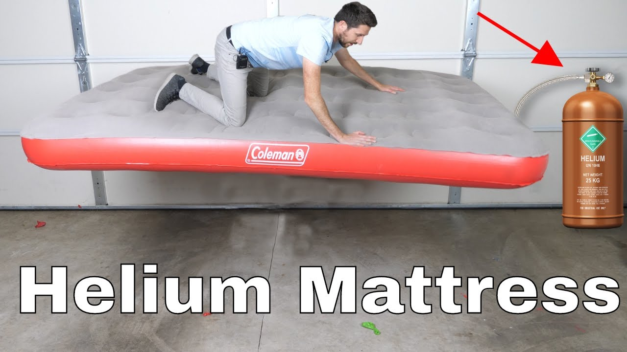 The Action Lab Tests If Filling Air Mattress With Helium Makes It Float