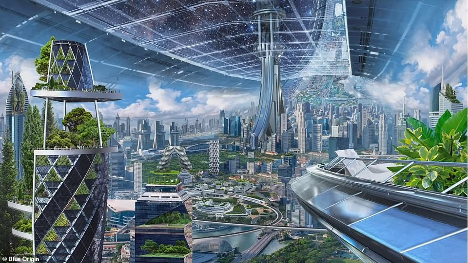 Bezos Has Unveiled His Vision Of Space Habitats