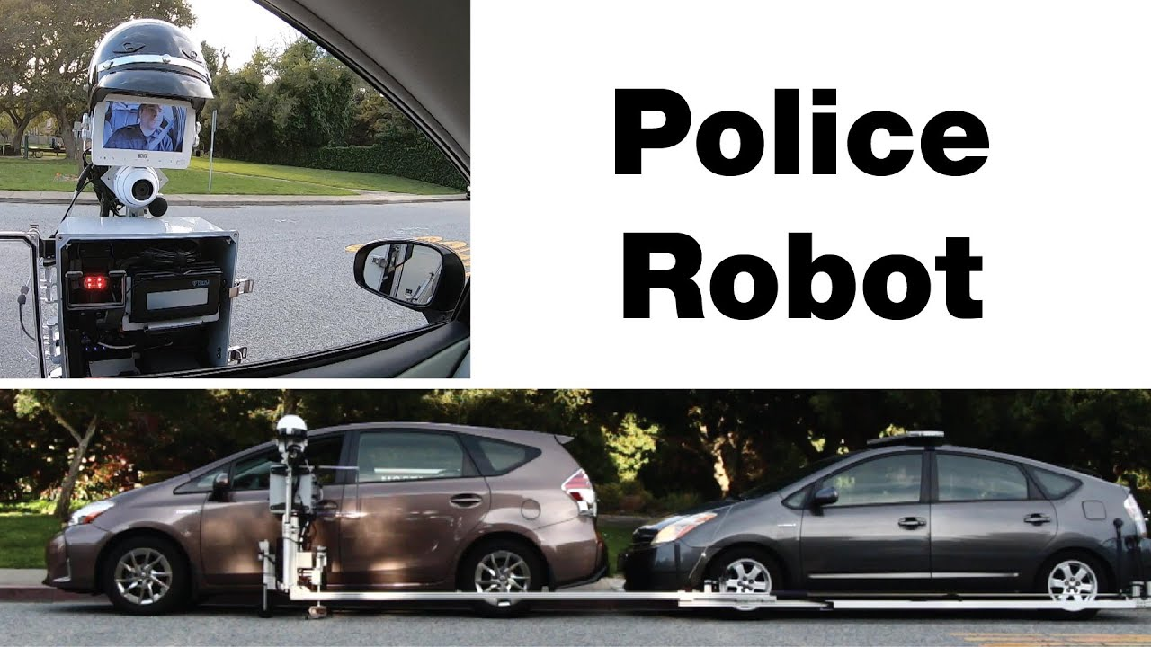 Check Out The Police Robot Created By Reuben Brewer In This Video