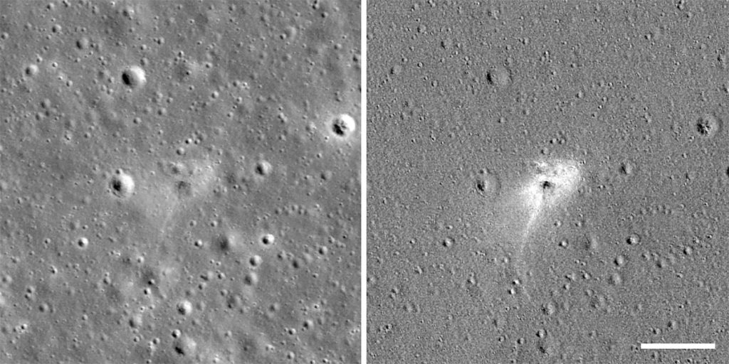 NASA Photographed The Crash Site Of SpaceIL's Beresheet