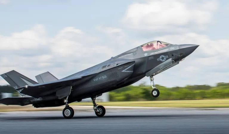 US Airforce F-35 Joint Strike Fighter Goes Down After Colliding With A Bird