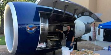 Delta's TechOps Team Transformed A Jet Engine Into A BBQ Grill