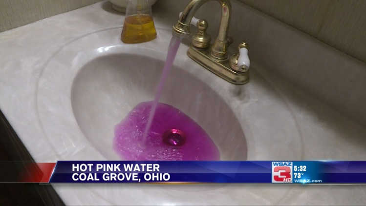 Pink Water In Coal Grove Was Because Of Excess Sodium Permanganate