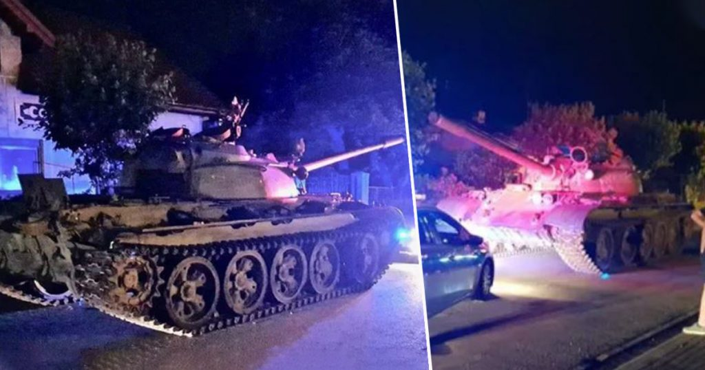 Drunk Driver Drove Soviet-Era T-55 Tank Into A Polish Town